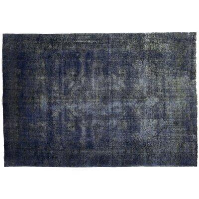 Vintage Hand-Knotted Blue Area Rug