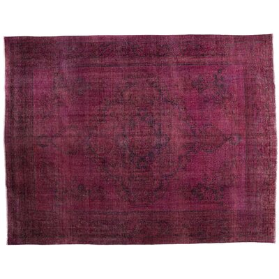 One-of-a-Kind Vintage Hand-Knotted Pink Area Rug
