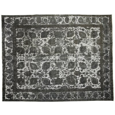 One-of-a-Kind Vintage Hand-Knotted Gray Area Rug