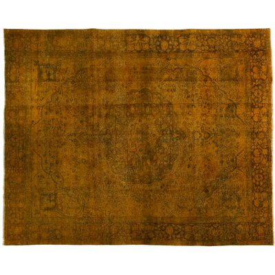 Vintage Hand-Knotted Orange Area Rug