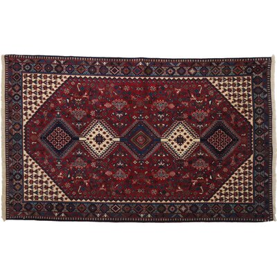 One-of-a-Kind Yalameh Hand-Knotted Red Area Rug