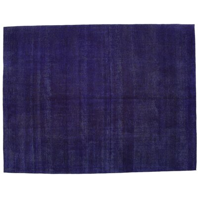 Vintage Hand-Knotted Purple Area Rug