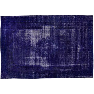 One-of-a-Kind Vintage Hand-Knotted Purple Area Rug