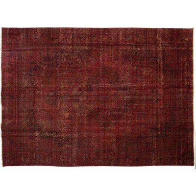 One-of-a-Kind Vintage Hand-Knotted Red Area Rug