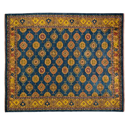 One-of-a-Kind Ziegler Hand-Knotted Blue Area Rug
