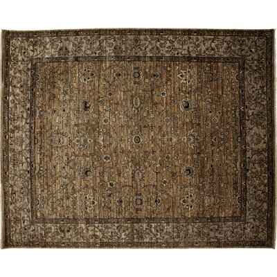 One-of-a-Kind Ziegler Hand-Knotted Brown Area Rug