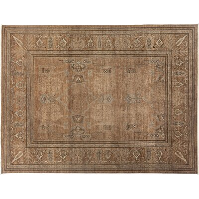 Ziegler Hand-Knotted Brown Area Rug