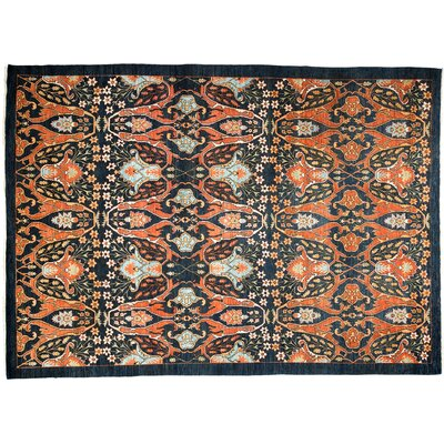 Ziegler Hand-Knotted Orange Area Rug