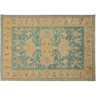 One-of-a-Kind Ziegler Hand-Knotted Blue/Yellow Area Rug