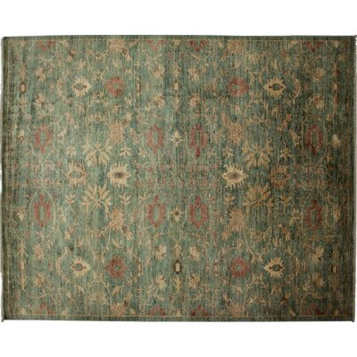 Ziegler Hand-Knotted Green Area Rug