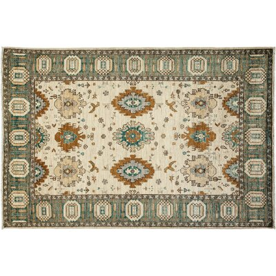 Ziegler Hand-Knotted Ivory Area Rug