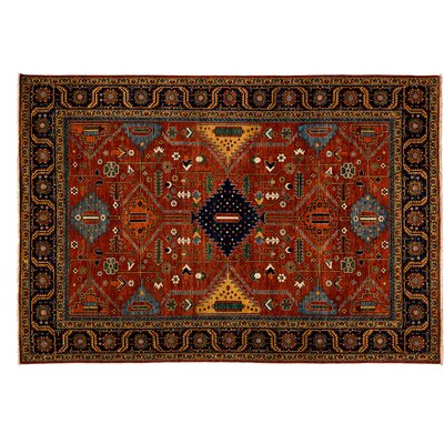 Ziegler Hand-Knotted Red Area Rug