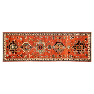 One-of-a-Kind Ziegler Hand-Knotted Orange Area Rug