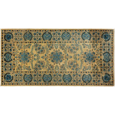 One-of-a-Kind Ziegler Hand-Knotted Yellow Area Rug