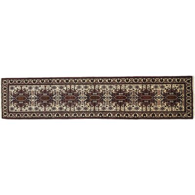 One-of-a-Kind Balouch Hand-Knotted Ivory Area Rug