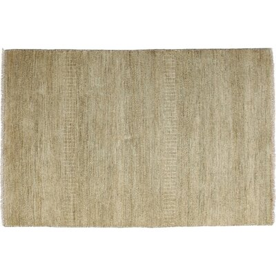One-of-a-Kind Savannah Hand-Knotted Beige Area Rug