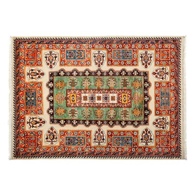 One-of-a-Kind Barjasta Hand-Knotted Red Area Rug
