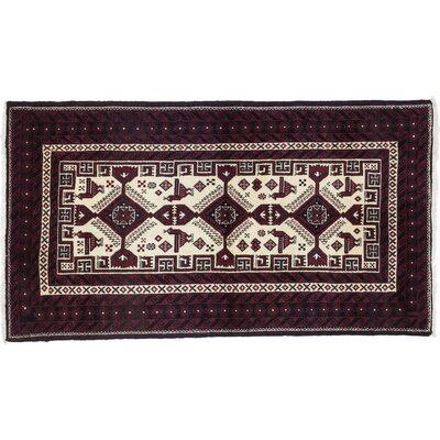 Balouch Hand-Knotted Red Area Rug