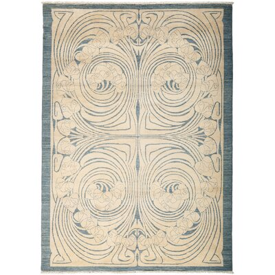 One-of-a-Kind Shalimar Hand-Knotted Beige Area Rug Rug Size: Rectangle 51 x 78