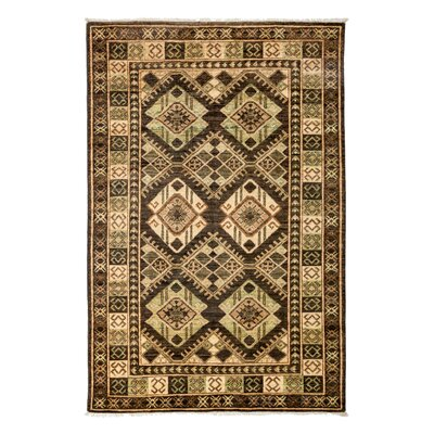 Ersari Hand-Knotted Brown Area Rug Rug Size: 42 x 510