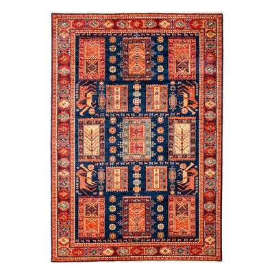 One-of-a-Kind Ziegler Hand-Knotted Red Area Rug Rug Size: 6 x 85