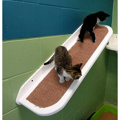 40 Right Facing Pet Ramp Color: White / Light Brown