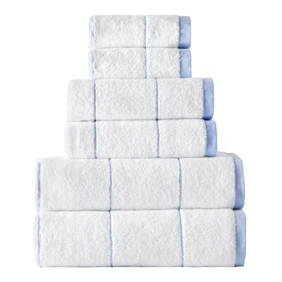 Turkish 6 Piece Towel Set Color: Blue