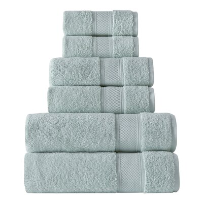 Turkish 6 Piece Towel Set Color: Mint