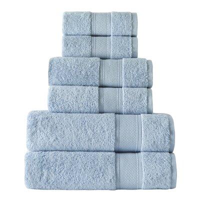 Turkish 6 Piece Towel Set Color: Blue