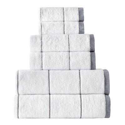 Turkish 6 Piece Towel Set Color: Gray