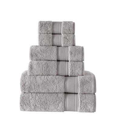 Ultra Soft 6 Piece Towel Set Color: Mist Gray