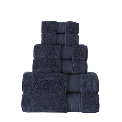 Ultra Soft 6 Piece Towel Set Color: Midnight Blue