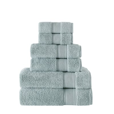 Ultra Soft 6 Piece Towel Set Color: Grand Blue