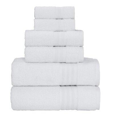 Super Soft 6 Piece Towel Set Color: White