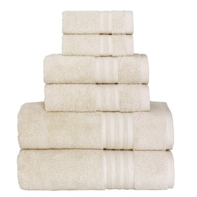 Super Soft 6 Piece Towel Set Color: Sand
