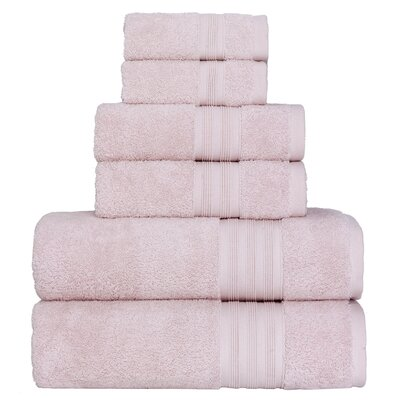 Super Soft 6 Piece Towel Set Color: Powder
