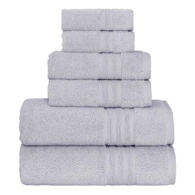 Super Soft 6 Piece Towel Set Color: Silver Foil
