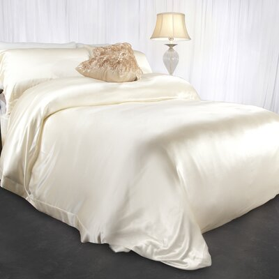 Aus Vio Mulberry Silk Duvet Cover Size: Queen, Color: Dawn