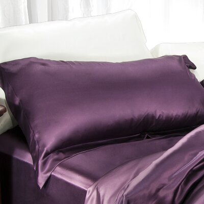 Aus Vio Mulberry Pillowcase Size: Queen, Color: Iris