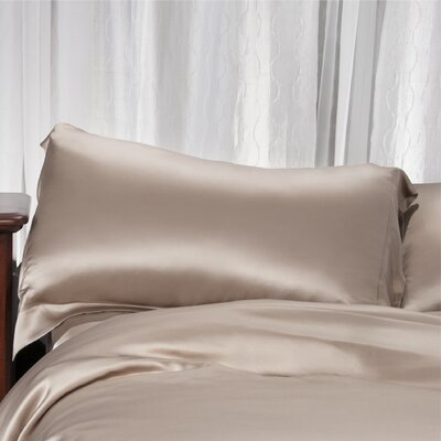 Aus Vio Mulberry Pillowcase Size: Queen, Color: Pebble