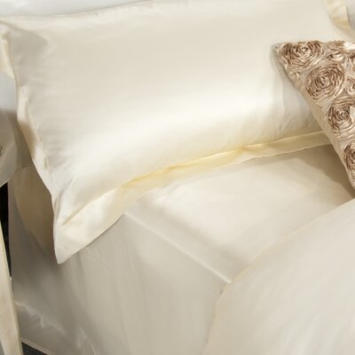 Aus Vio Mulberry Silk Flat Sheet Size: King/California King, Color: Dawn