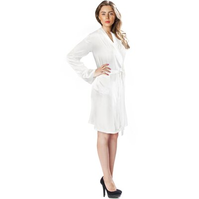 Silk Short Bathrobe Size: Large / Extra Large