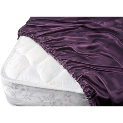 Aus Vio Mulberry Silk Fitted Sheet Size: King, Color: Iris