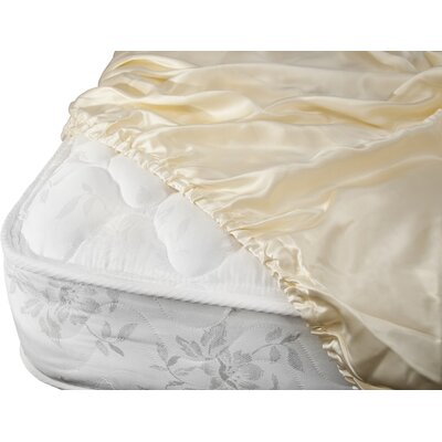 Aus Vio Mulberry Silk Fitted Sheet Size: King, Color: Dawn