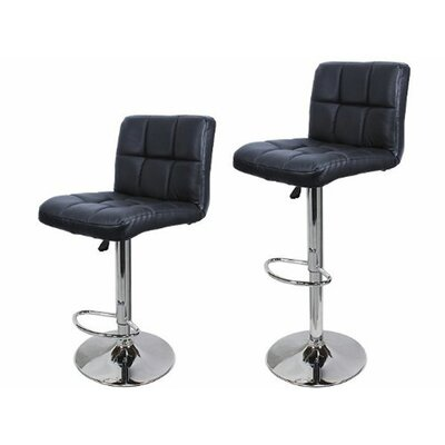 21.5 Swivel Bar Stool with Cushion Upholstery: Black