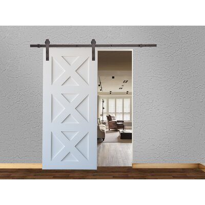 Classic Bent Strap Sliding Door Track Barn Door Hardware Finish: Antique Bronze