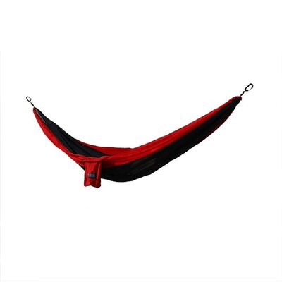 Osage River Twain Nylon Tree Hammock Color: Black/Red, Size: 2 H x 74 W x 112 D