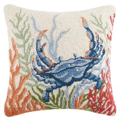 Sea Life Crab Hook Wool Throw Pillow