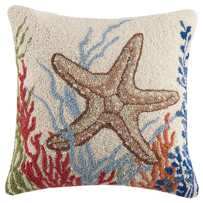 Sea Life Starfish Hook Wool Throw Pillow
