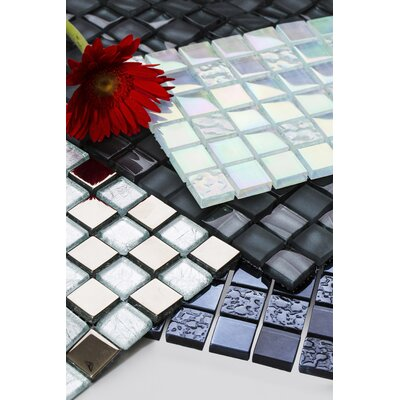 Bella 12 x 12 Glass Mosaic Tile in Silver